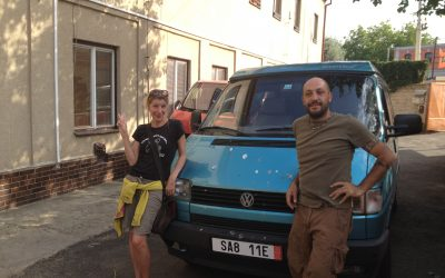 First Day in Our VW Van Mork