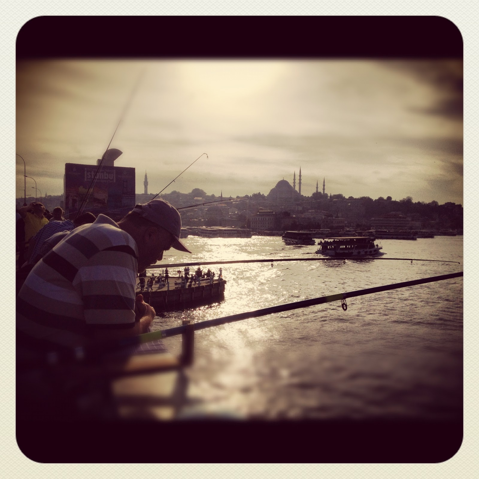 Locals Fishing from the Galata Bridge