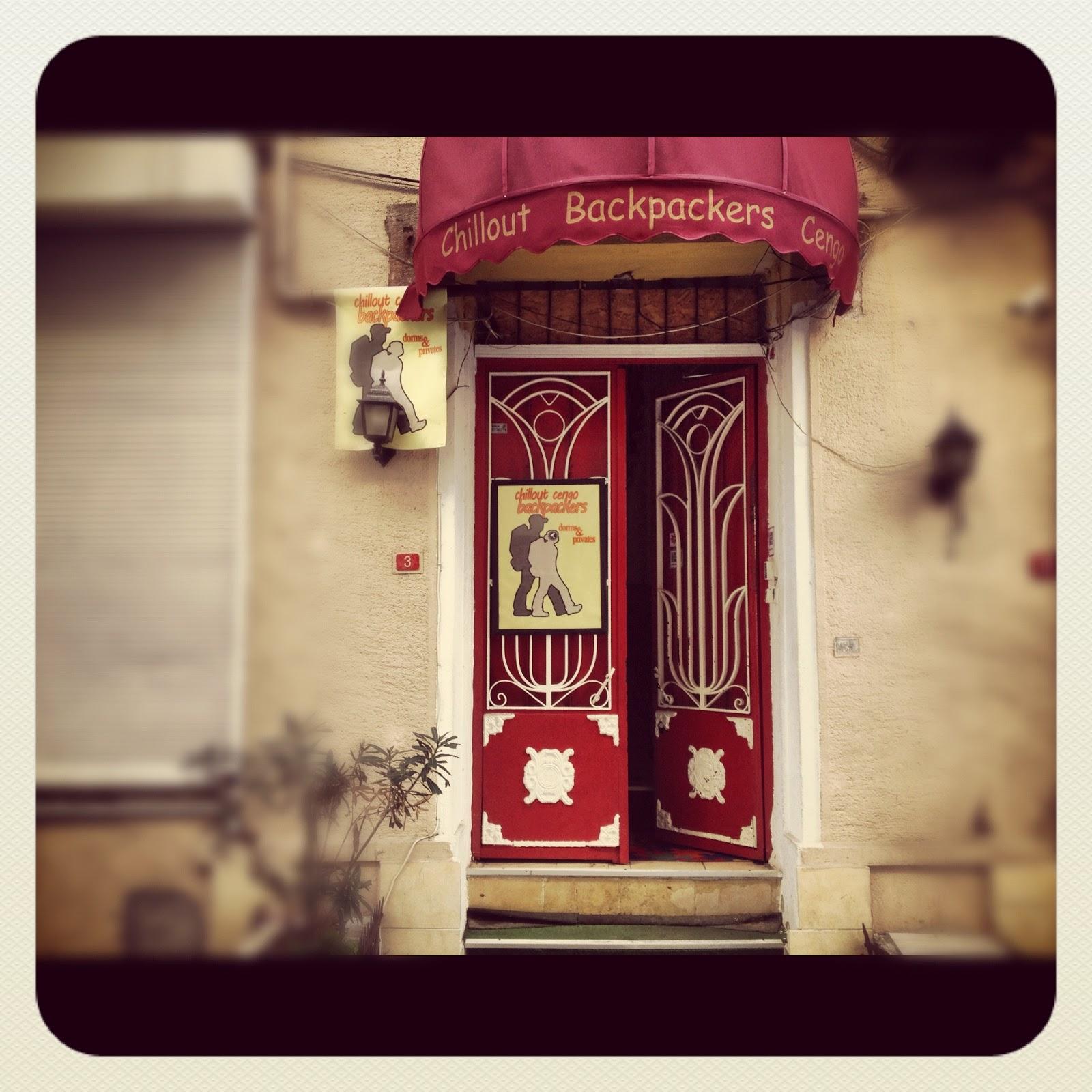 The Front Door of Istanbul Hostel