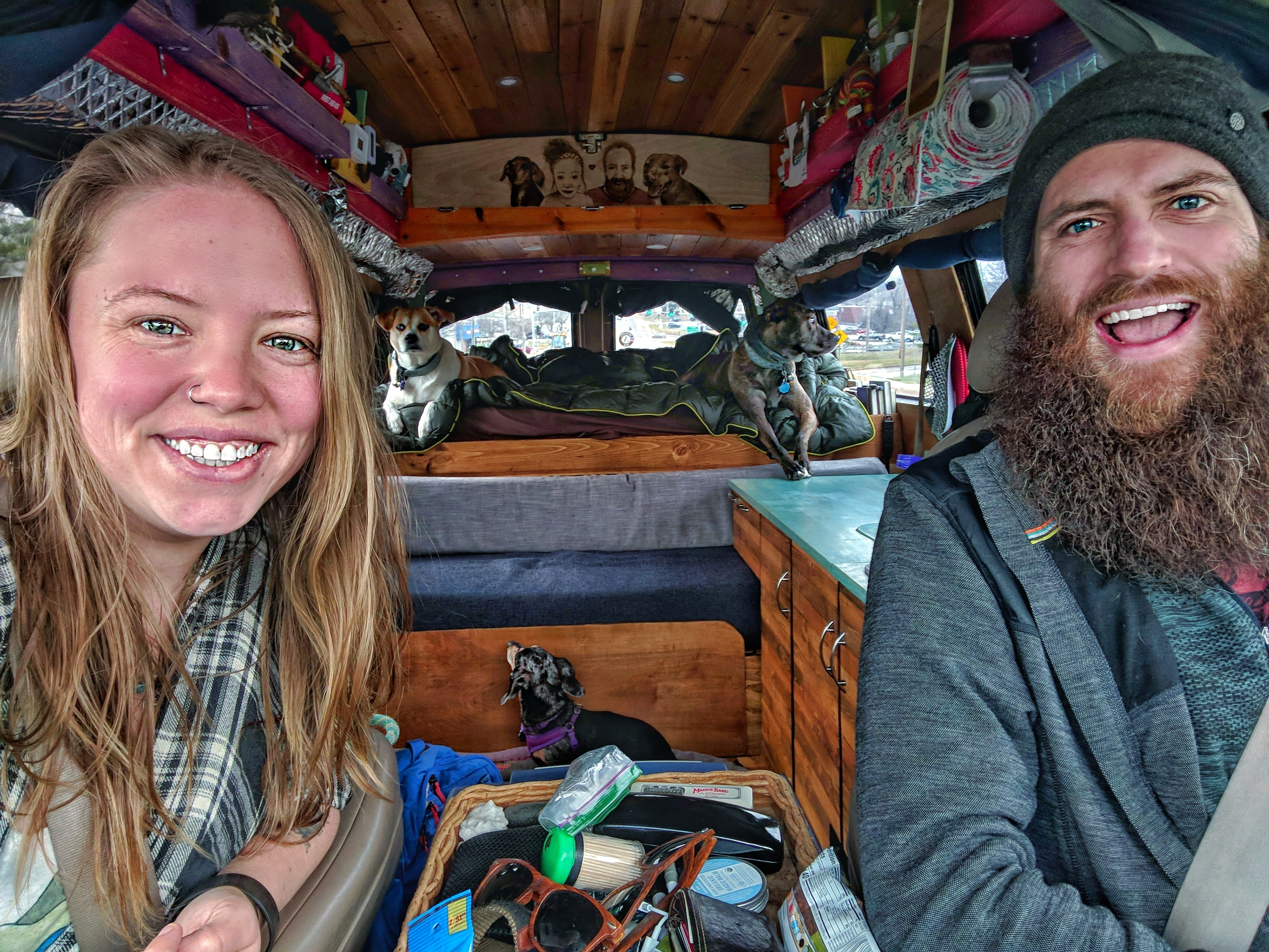 vanlife with dogs gnomad home