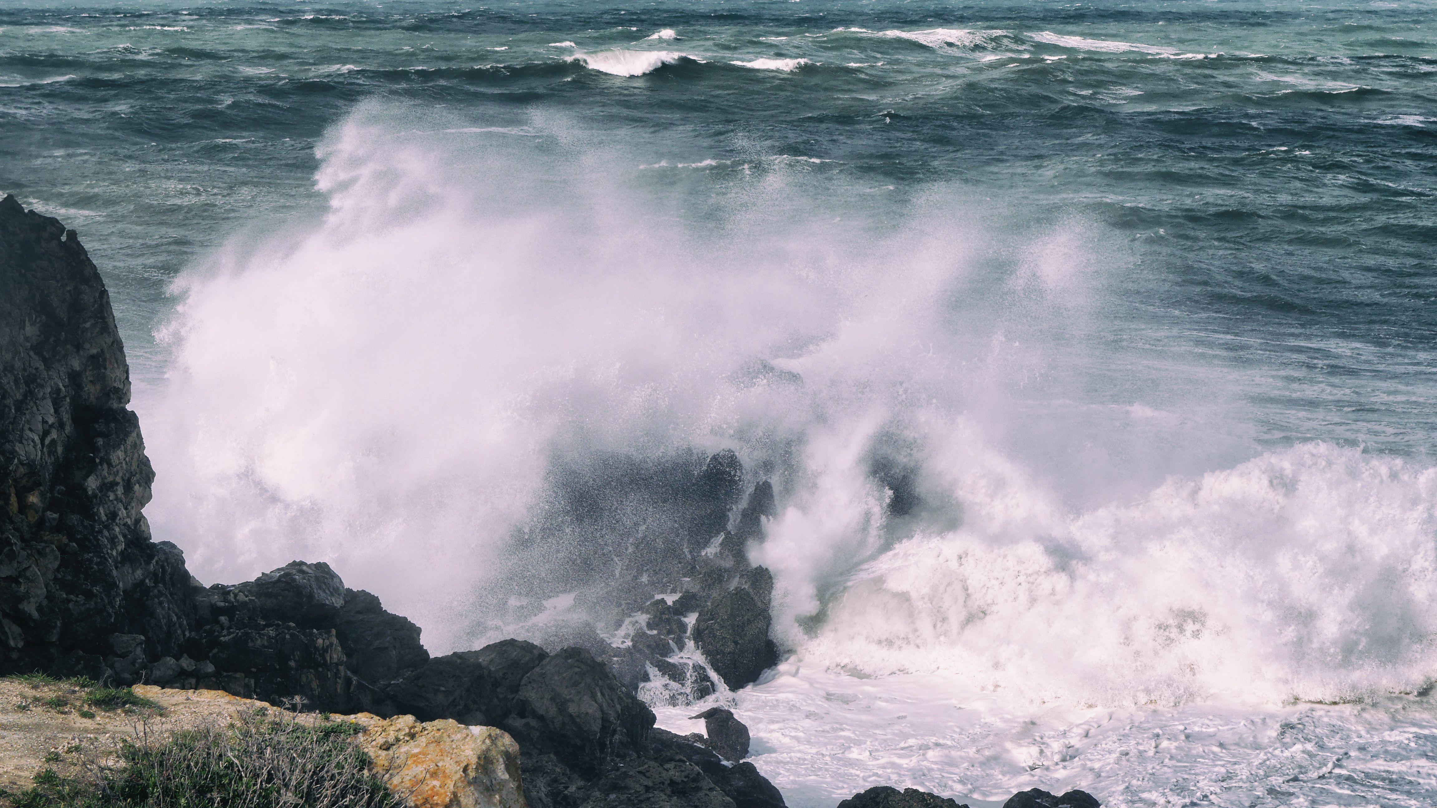 Stormy Seas Algarve Portugal