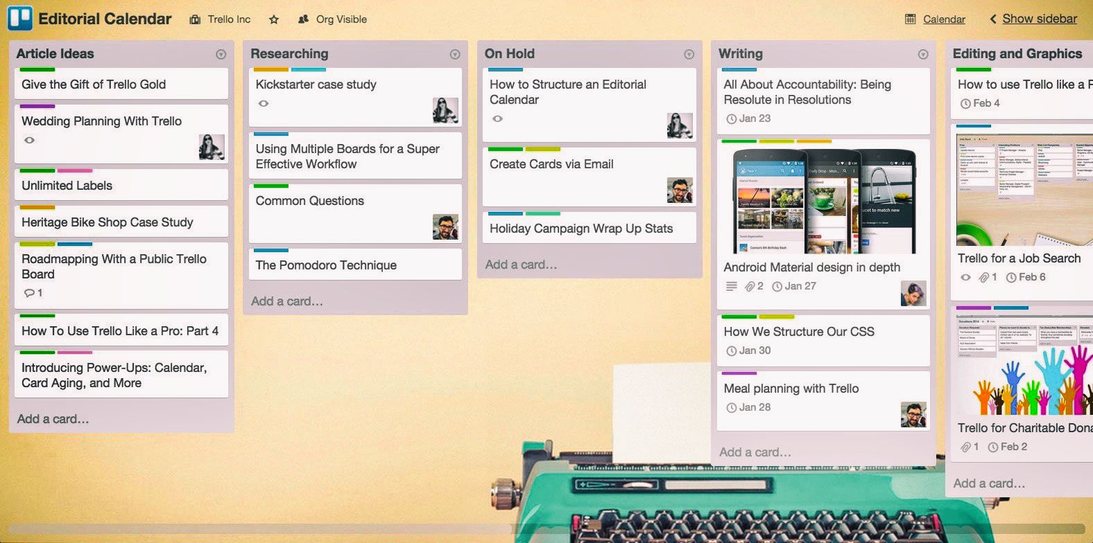 Trello 1 Screenshot of Organizer