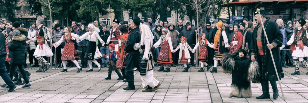 Kuker festival circle dancing Bulgaria